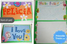 This sponsor decided to send her sponsored child fun cards and letters with her name in bold and giant letters to show her she is somebody special #compassionletter