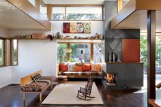 The living room of Frank Clementi and Julie... |