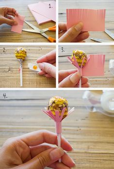 Valentines Day is just around the corner so I thought I would share a little DIY project that you can make for your loved ones. Candy Bouquet Diy, Cupcake Flower Bouquets, Lollipop Bouquet, Flower Bouquet Diy, Diy Valentine's Flowers, Candy Flowers, Paper Flowers, Valentines Flowers, Valentines Diy