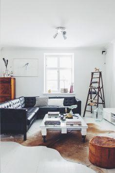 black + white modern vintage mix