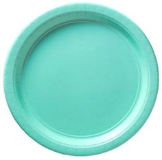"Custom & Unique {10.5"" Inch} 20 Count Multi-Pack Set of Large Size Round Circle Disposable Paper Plates w/ Modern Elegance Solid Colored Springtime Bash Birthday Party ""Teal Blue"""