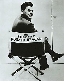 Television star Ronald Reagan as the host of General Electric Theater
