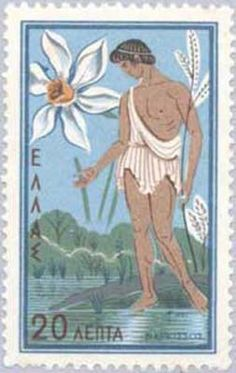 Narcissus, Greek Mythology Stamps