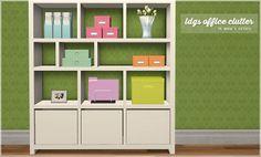 sims 2 palette: ldg office clutter recolors