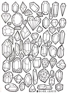 Colouring Pages, Coloring Books, Art Sketches, Art Drawings, Crystal Drawing, Desenhos Harry Potter, Bullet Journal Inspiration, Book Of Shadows, Elementary Art