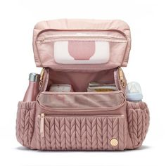 Levy Backpack Dusty Rose Designed for effortless hands-free carrying, this classic backpack diaper bag is the perfect combo of sporty and feminine for an upscale athleisure look. The Levy Backpack has Diaper Bag Backpack, Best Diaper Bag, Mini Diaper Bag, Baby Girl Diaper Bags, Cute Diaper Bags, Baby Boy, Baby Supplies, Rustic Baby, Baby Essentials