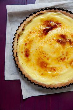 Bruleed Pineapple Tart Recipe — Dishmaps