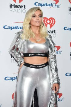Bebe Rexha attends the 2017 iHeartRadio Music Festival at TMobile Arena on September 22 2017 in Las Vegas Nevada Bebe Rexha, Star Fashion, Womens Fashion, Bebe Baby, Female Singers, Overall, Skin Tight, Sexy Hot Girls, Most Beautiful Women
