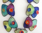 RESERVED for Ronit - Polymer clay necklace