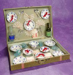 Elan Auction - June 10-11, 2017 | French Doll's Dinner Service in Original Presentation Box. $400/500