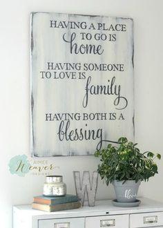 Home & Family Sign {semi-custom} - Aimee Weaver Designs, LLC