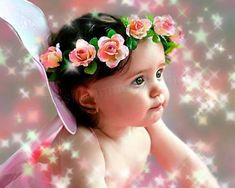 baby with flower photos - Google Search