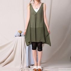 tea green tank sundress plus size maternity dress women long blouse