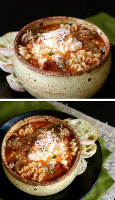 Lasagna Soup Recipe // Yumm!