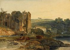 Joseph Mallord William Turner 'St Agatha's Abbey, Easby', c.1797 - Watercolour on paper -  Dimensions Support: 270 x 371 mm -  © The British Museum