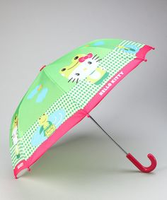 Take a look at this Green Hello Kitty Froggy Umbrella by Hello Kitty on #zulily today!