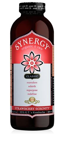 GT's Classic Synergy Strawberry Serenity - kombucha!!! This is my favorite flavor, and I'm not generally big on strawberries so that says a lot. Also dig the grape and chai versions. Fizzy and fun.