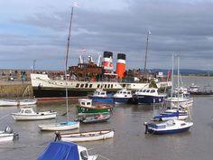 The Waverley in Minehead harbour.