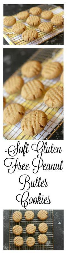 Soft gluten free peanut butter cookies - SOOOO yummy!