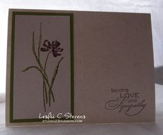 A Simple but thoughtful sympathy card. Stampin Up