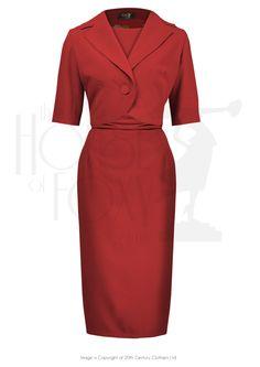 1960s Jackie O Dress & Jacket - Scarlett £165.00 AT Vintagedancer.com