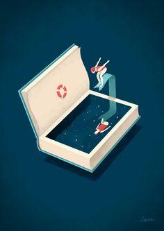 Diving Art Print by Andrea De Santis | Society6