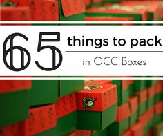 Stumped on what to put in your Operation Christmas Child boxes this year? I rounded up 65 of my favorite items to pack.
