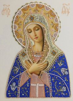 Traditional Catholic Virgin Mary Prints Ready for Frame Blessed Mother Mary, Divine Mother, Blessed Virgin Mary, Virgin Mary Art, Virgin Mary Painting, Jesus Mother, Religious Pictures, Religious Icons, Religious Art