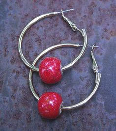 Memorial Bead Hoop Earrings, Chelsea Style, Sterling Silver