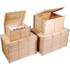 Caisses bois contreplaqué de 114 à 124 dm3