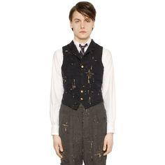 Designer Clothes, Shoes & Bags for Women Navy Blue Vest, Wool Vest, Luxury Shop, Thom Browne, Men's Vests, Men's Outerwear, Mens Fashion, Men's Clothing, Collection