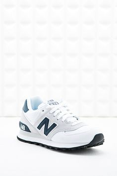 New Balance 574 Canvas Runner Trainers in White