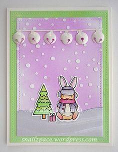copyright linda @ snailzpace.wordpress.com christmas bunny-1