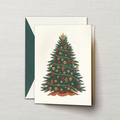 Engraved Christmas Tree Greeting Card