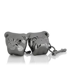 Bulldog Chain Black Cufflinks
