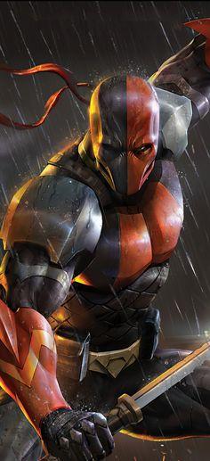 Batman Artwork, Batman Wallpaper, Deathstroke, Marvel Dc Comics, Marvel Heroes, Comic Book Characters, Comic Books, Vigilante, Dungeons And Dragons Homebrew