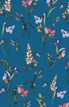 - camilla frances prints textiles in 2019 обои фоны, Flower Backgrounds, Flower Wallpaper, Pattern Wallpaper, Wallpaper Backgrounds, Iphone Wallpaper, Phone Backgrounds, Textures Patterns, Print Patterns, Botanical Prints
