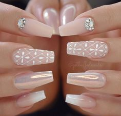 Stylish Acrylic Nail Designs That You Have to Try This Year; Acrylic Nails 2018 Stylish Acrylic Nail Designs That You Have to Try This Year; Gorgeous Nails, Pretty Nails, Amazing Nails, How To Do Nails, Fun Nails, Nail Polish, Gel Nail, Wedding Nails Design, Ballerina Nails