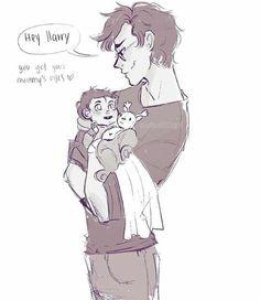 James holding Harry holding Prongs