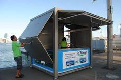 Commercial kiosk / steel / prefab / for public spaces CUVE ® ESTEVA