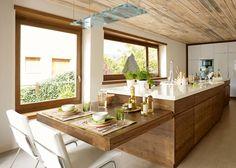Una cocina moderna, práctica y cálida · ElMueble.com · Cocinas y baños