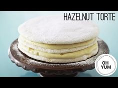 Hazelnut Dacquoise Torte | Oh Yum with Anna Olson - YouTube