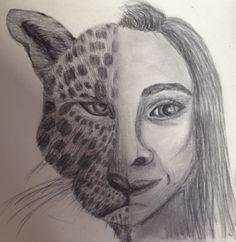 Half leopard half girl