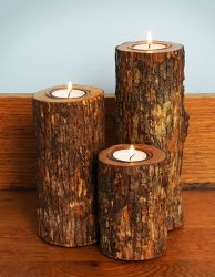 The log candles I'll be having as part of my centre pieces