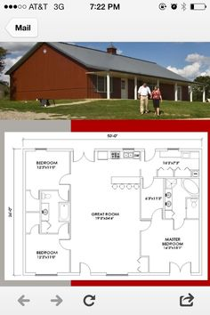 Small pole barn homes are you thinking about building one? We can help you find companies that build pole barn homes in your area. Metal House Plans, Pole Barn House Plans, Pole Barn Homes, Shop House Plans, Barn Plans, New House Plans, Small House Plans, House Floor Plans, Pole Barns