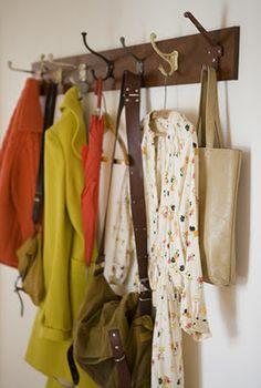 love the idea: different coat hangers