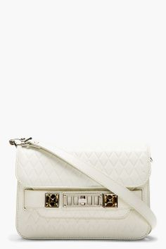 PROENZA SCHOULER White Embossed Leather PS11 Mini Shoulder Bag