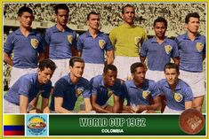 Colombia team group at the 1962 World Cup Finals. World Cup Teams, World Cup Final, Football Team, Finals, Baseball Cards, Classic, Group, Sport, Soccer