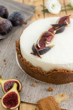 Cheese cake à la figue et au spéculoos - Sucre d'Orge et Pain d'Epices Cheesecake Speculoos, Sweet Recipes, Cake Recipes, Boho Cake, Vegan Ice Cream, Cheesecakes, Camembert Cheese, Bakery, Sweets