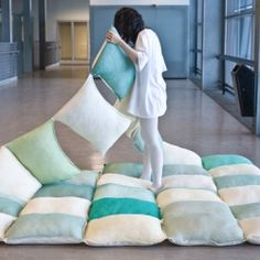 This genius blanket is essentially a quilt made of thirty pillows.